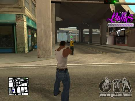 New HUD Ballas Style for GTA San Andreas third screenshot
