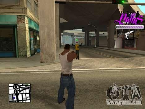 New HUD Ballas Style for GTA San Andreas third screenshot