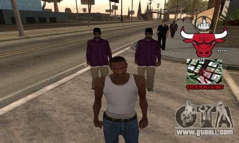 C-HUD Chicago Bulls for GTA San Andreas