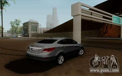 Hyundai Solaris for GTA San Andreas left view