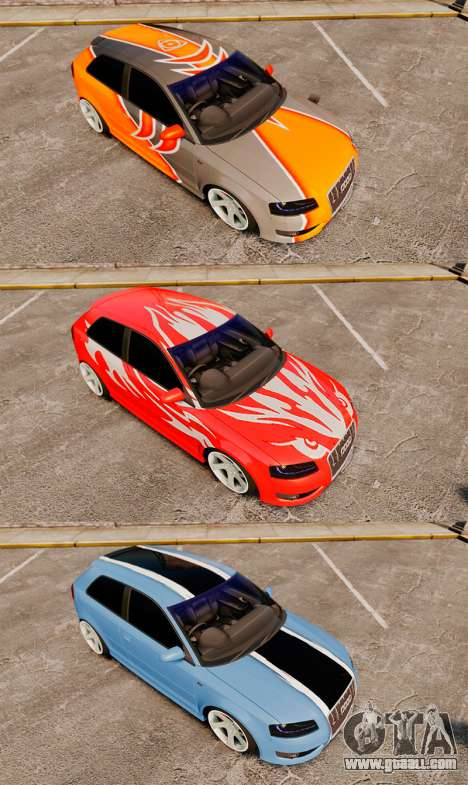 Audi S3 EmreAKIN Edition for GTA 4 side view