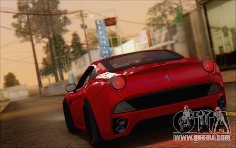 Ferrari California v2 for GTA San Andreas left view