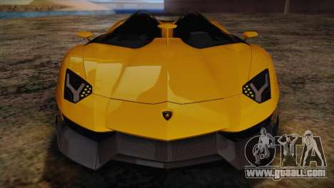 Lamborghini Aventandor J 2010 for GTA San Andreas bottom view