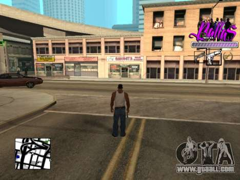 New HUD Ballas Style for GTA San Andreas second screenshot