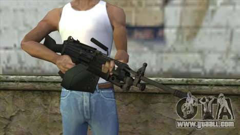 M249 SAW Machine Gun for GTA San Andreas third screenshot
