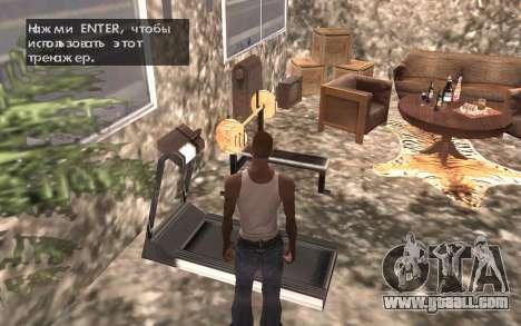 The basement of the house Carl for GTA San Andreas seventh screenshot