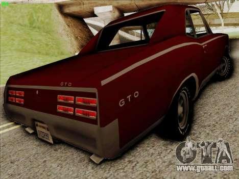 Pontiac GTO 1967 for GTA San Andreas right view