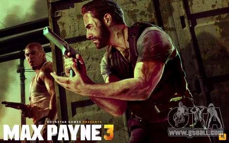 Boot screens Max Payne 3 HD for GTA San Andreas fifth screenshot