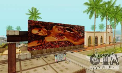 New high-quality advertising on posters for GTA San Andreas eleventh screenshot