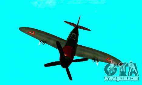 P-47 Thunderbolt for GTA San Andreas back view