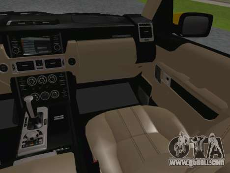 Range Rover Supercharged Series III for GTA San Andreas interior