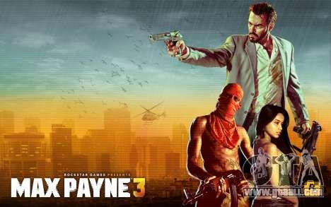 Boot screens Max Payne 3 HD for GTA San Andreas forth screenshot