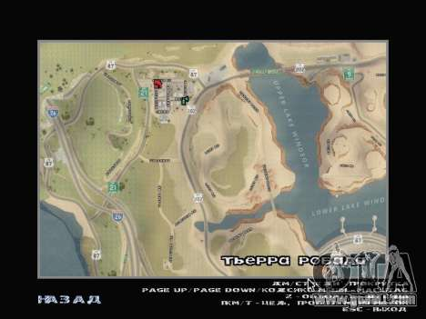 The new map in HD for GTA San Andreas second screenshot
