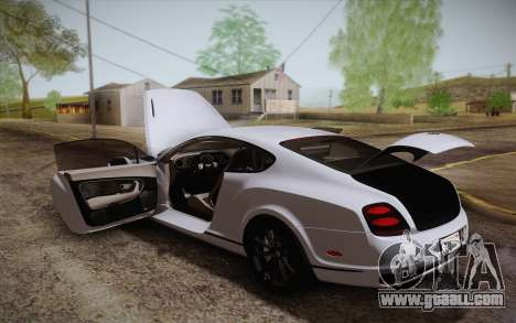 Bentley Continental SuperSports 2010 v2 Finale for GTA San Andreas engine