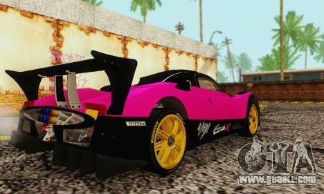 Pagani Zonda Type R Pink for GTA San Andreas back left view