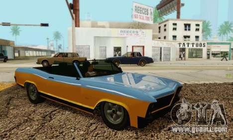 Gta 5 Buccaneer updated for GTA San Andreas inner view