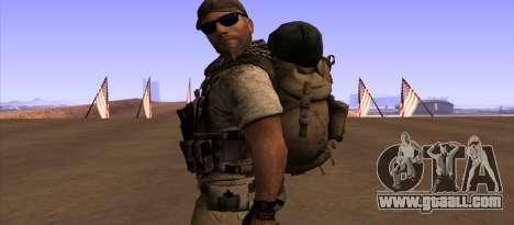 Рюкзак из MОH Warfighter for GTA San Andreas third screenshot