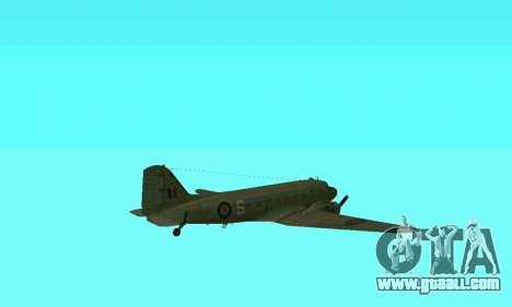 C-47 Dakota RAF for GTA San Andreas upper view