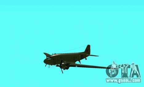 C-47 Dakota RAF for GTA San Andreas inner view