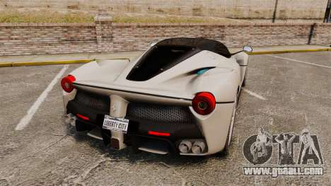 Ferrari LaFerrari for GTA 4 back left view