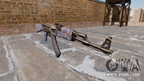 The AK-47 Blue Camo for GTA 4