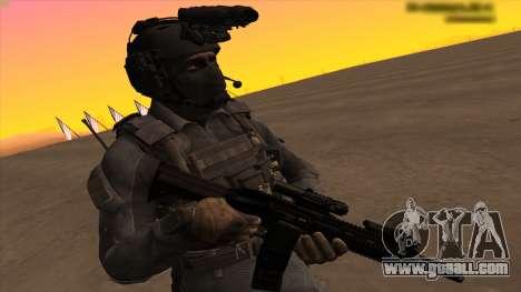 Sgt Keegan P.Russ из Call Of Duty: Ghosts for GTA San Andreas forth screenshot