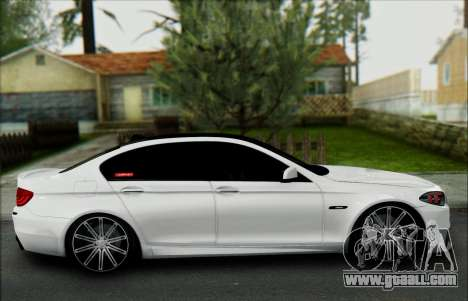 BMW 550 F10 VOSSEN for GTA San Andreas inner view