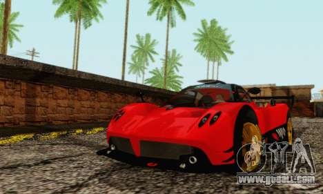 Pagani Zonda Type R Red for GTA San Andreas left view