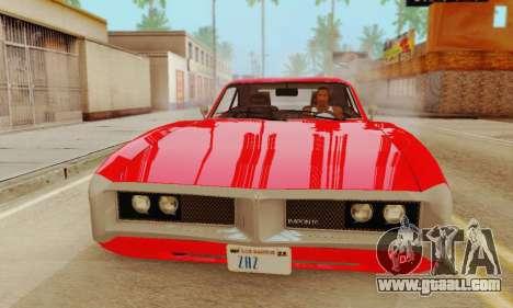 GTA 4 Imponte Dukes V1.0 for GTA San Andreas back left view
