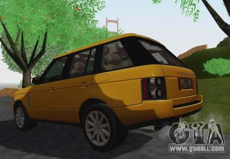 Range Rover Supercharged Series III for GTA San Andreas side view