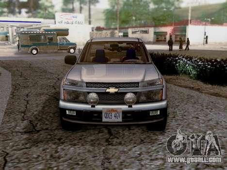 Chevrolet Colorado for GTA San Andreas back left view