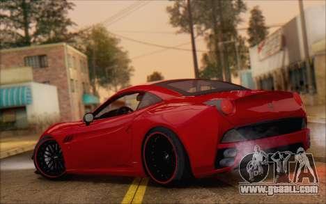 Ferrari California v2 for GTA San Andreas back left view