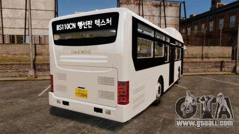 Daewoo BS110CN for GTA 4 back left view