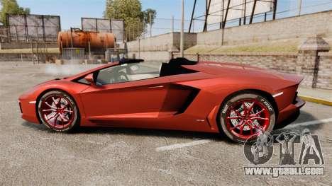 Lamborghini Aventador LP 700-4 Roadster [EPM] for GTA 4 left view