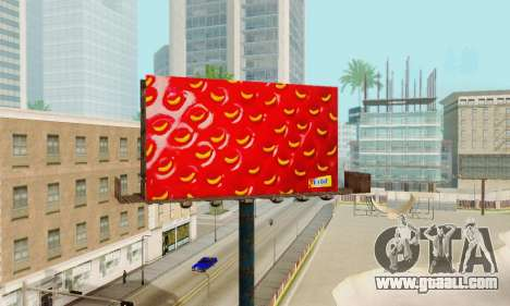 New high-quality advertising on posters for GTA San Andreas ninth screenshot
