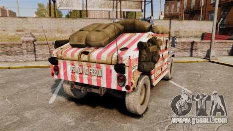 HMMWV M1114 Freedom for GTA 4 back left view