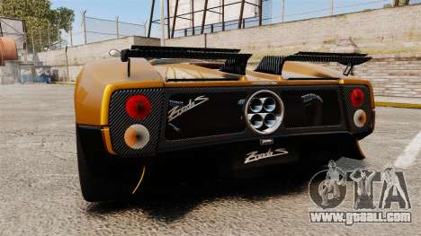 Pagani Zonda C12 S Roadster 2001 PJ2 for GTA 4 back left view