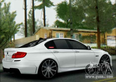 BMW 550 F10 VOSSEN for GTA San Andreas back left view