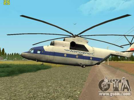 Mi 26 Civil for GTA San Andreas right view