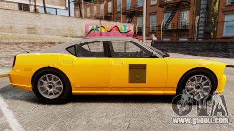 Bravado Buffalo Taxi for GTA 4 left view