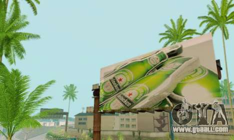 New high-quality advertising on posters for GTA San Andreas eighth screenshot