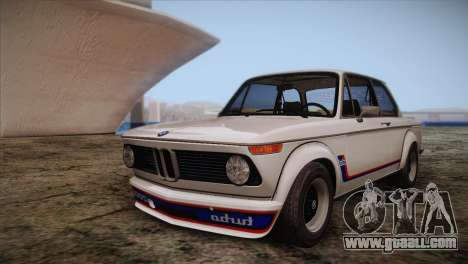 BMW 2002 1973 for GTA San Andreas upper view