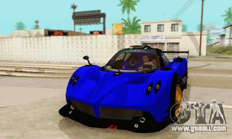 Pagani Zonda Type R Blue for GTA San Andreas back view