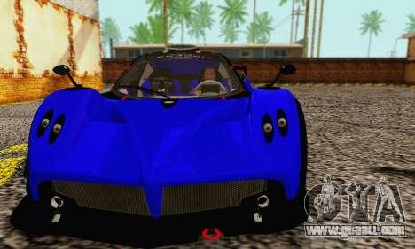Pagani Zonda Type R Blue for GTA San Andreas left view
