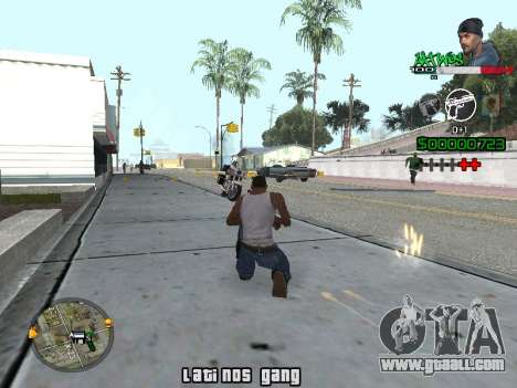 C-HUD Latinos by K.D for GTA San Andreas second screenshot