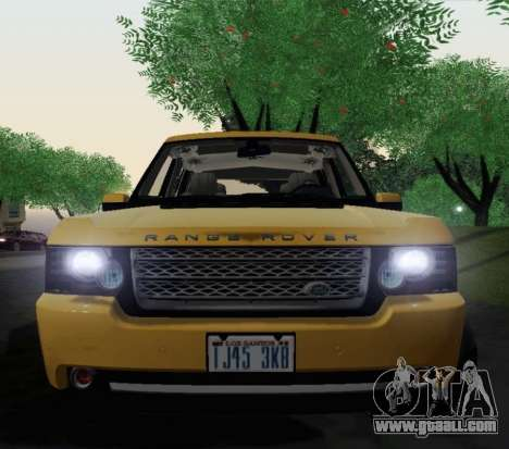 Range Rover Supercharged Series III for GTA San Andreas back view