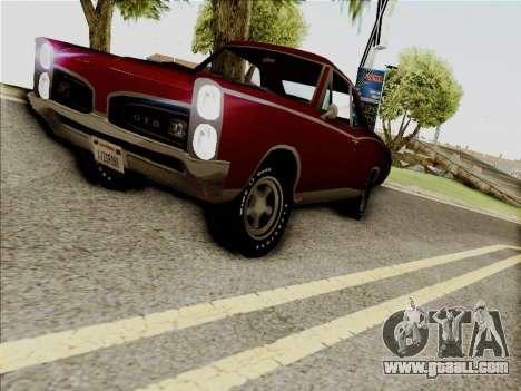 Pontiac GTO 1967 for GTA San Andreas