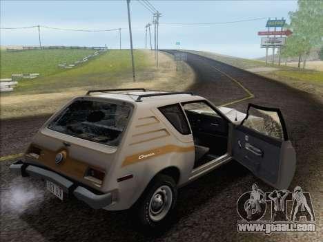 AMC Gremlin X 1973 for GTA San Andreas bottom view