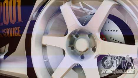 Toyota Supra 1998 Top Secret for GTA San Andreas side view