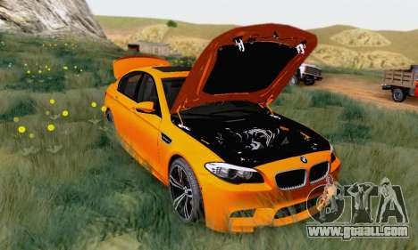 BMW F10 M5 2012 Stock for GTA San Andreas left view